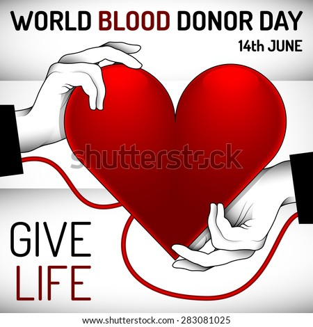World Blood Donor Day banner for advertising and other purposes.Editable vector with several layers.Eps 10 - stock vector
