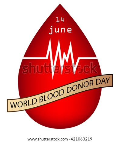 World blood donor day isolated white.vector - stock vector