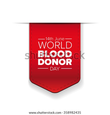 World blood donor day-June 14th. vector - stock vector