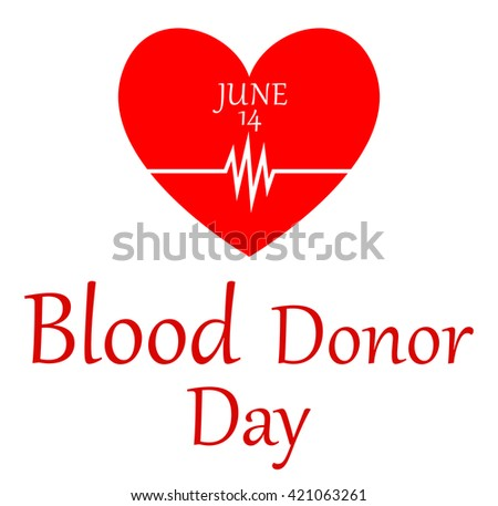 World blood donor day-June 14th.vector - stock vector