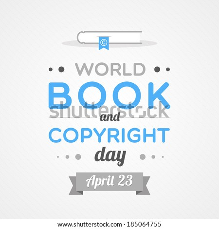 World Book and Copyright Day - stock vector