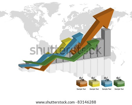 world Business vector graph isolated - stock vector
