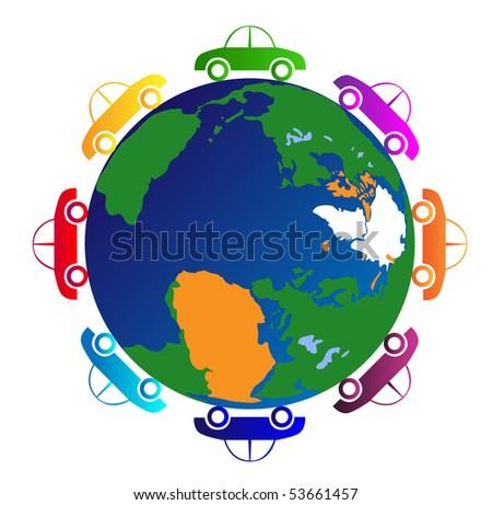 world cars - stock vector