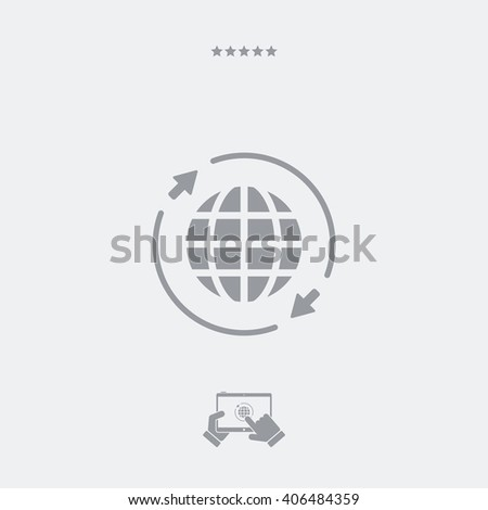 World connection - Single essential web icon - stock vector
