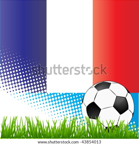 world cup france - stock vector