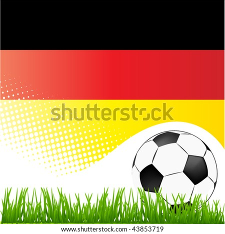 world cup germany - stock vector
