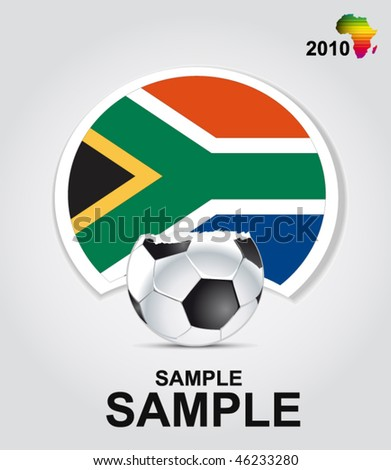 world cup in south africa - vector sign - stock vector