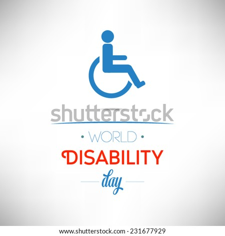 World Disability Day flat design on calendar page, vector illustration. Important days series. - stock vector