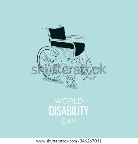World Disability Day Hand drawn background. Vector - stock vector