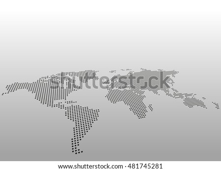 World dotted map vector background asymmetric stock vector royalty world dotted map vector background asymmetric perspective view gumiabroncs Images