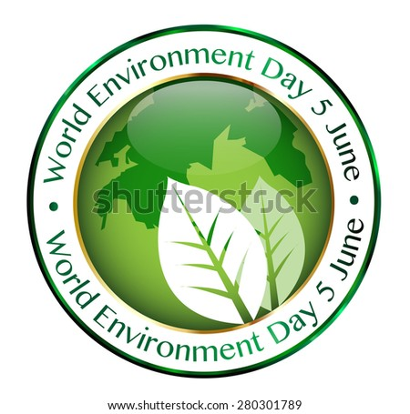 World Environment Day  Beautiful Vector Illustration - stock vector