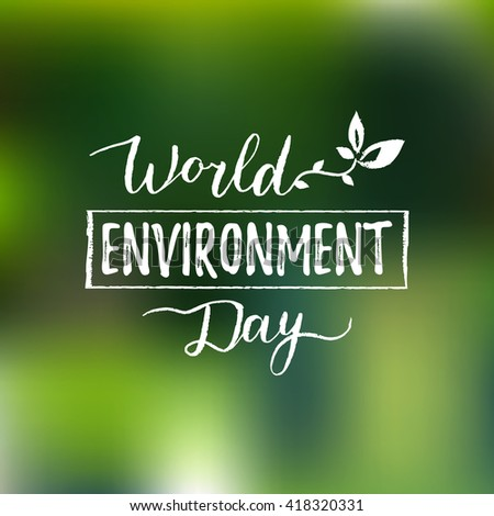 World environment day card, background. Vector illustration - stock vector
