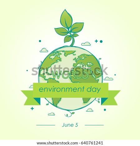 World Environment Day Concept Mother Earth Stockvector 640761241