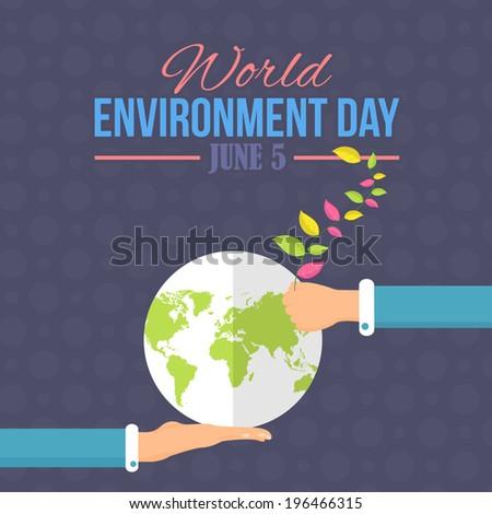 World Environment Day Vector Design - stock vector