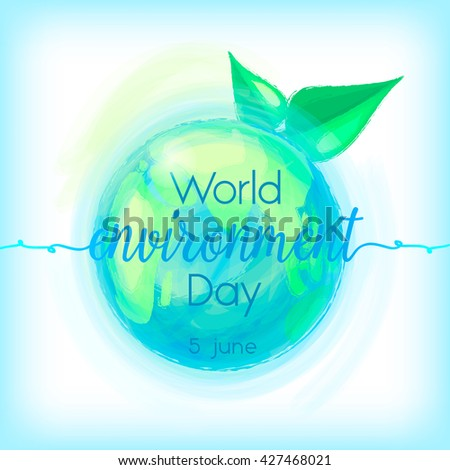 World environment day. World environment day Vector. World environment day Drawing. World environment day Image. World environment day Graphic. World environment day Art. World environment day card.  - stock vector