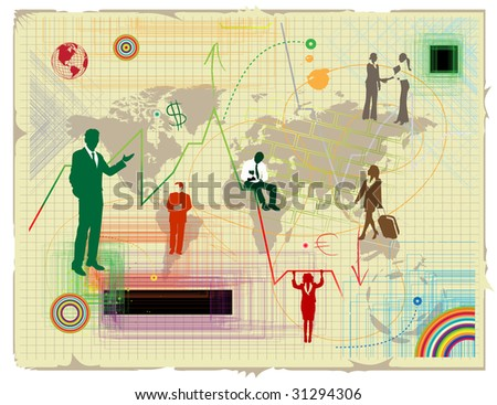 World financial crisis - stock vector