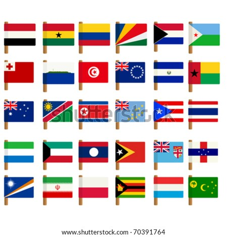 World flag icons set over white background no 4