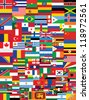 world flags background vector illustration - stock photo