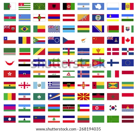 World flags collection ,Vector Illustration,Vector design
