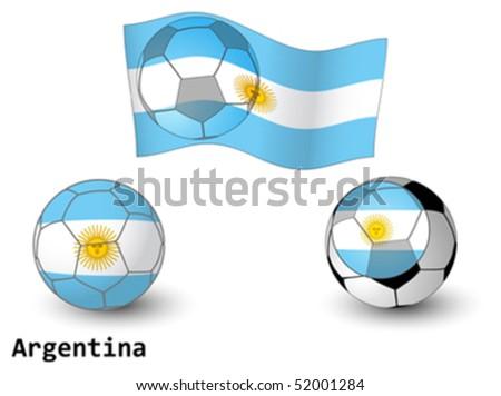 world football flags - stock vector