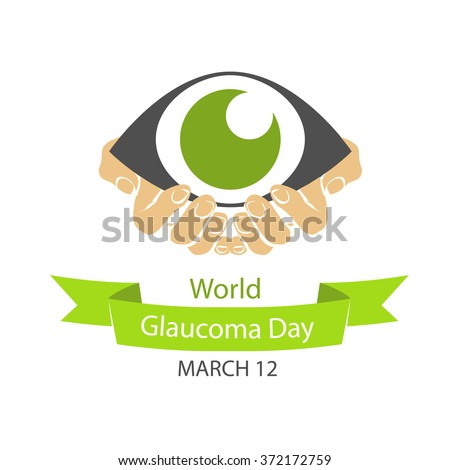 World Glaucoma Day, 12 March - stock vector