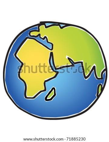 World Globe - stock vector