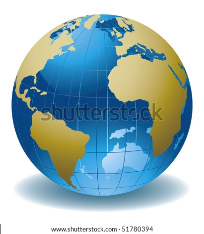World globe abstract vector illustration