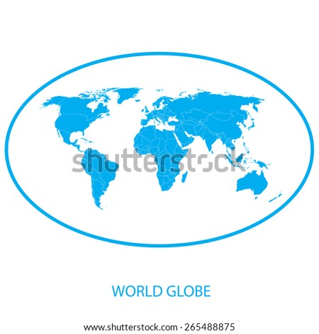 World globe - atlas - stock vector