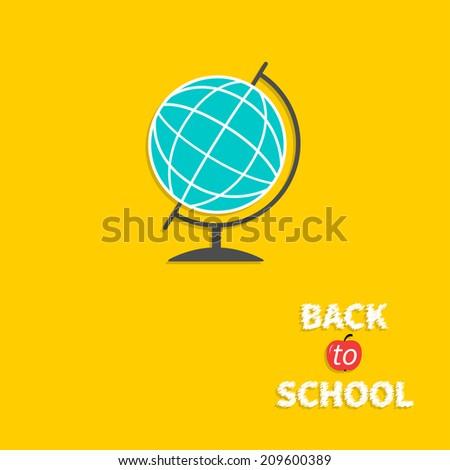 World globe. Back to school. Flat design style. Vector illustration - stock vector