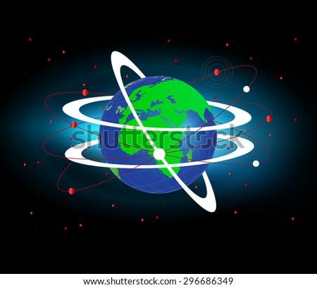 World Globe Connectivity - stock vector