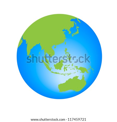 World Globe editable vector illustration - stock vector
