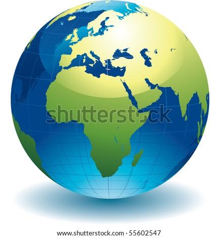 World globe - editable vector illustration - stock vector