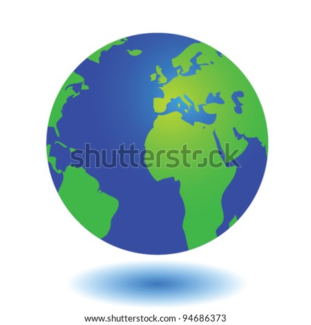 world globe illustration on white background