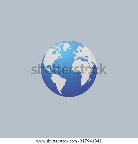 World globe vector illustration. - stock vector