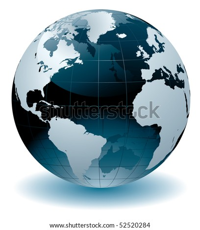 World globe vector illustration - stock vector