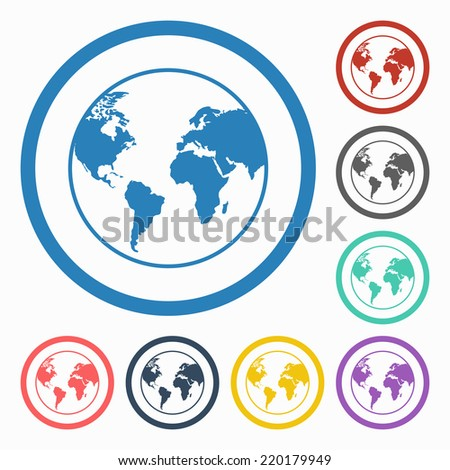 world icon - stock vector