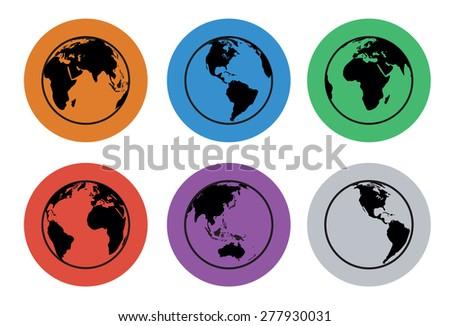 world icon - stock vector