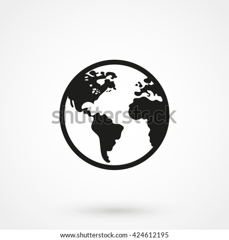 world Icon isolated on background. Modern flat pictogram, business, marketing, internet concept. Trendy Simple vector symbol for web site design or button to mobile app. Logo illustration - stock vector