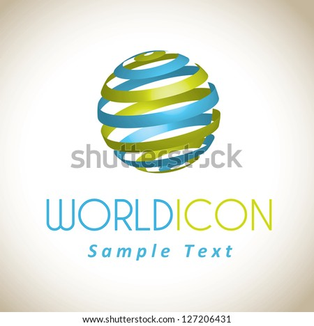 world icon over white background vector illustration - stock vector