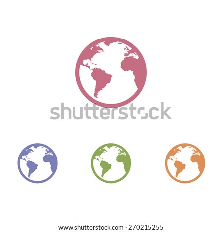 World icon, Vector - stock vector