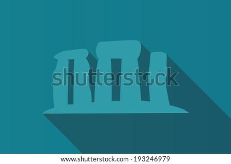 World landmark, Stonehenge, English country, Wiltshire, UK, Europe, vector illustration - stock vector