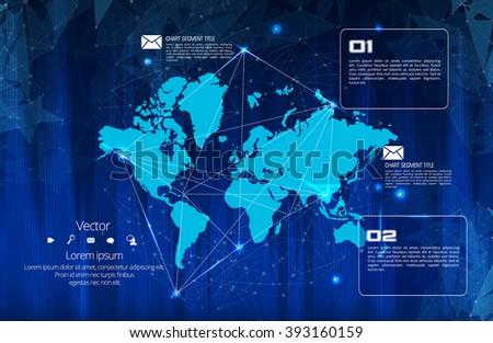 World map - stock vector