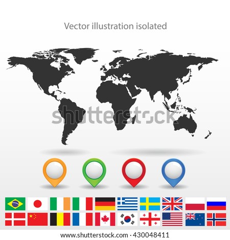 World map - stock vector