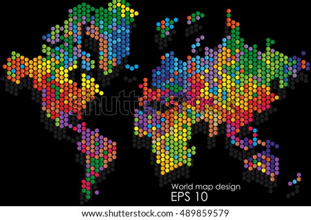 World map abstract design