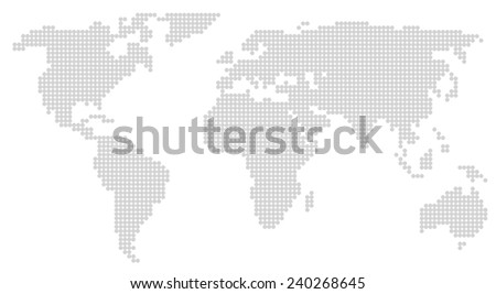 world map abstract silhouette  - stock vector
