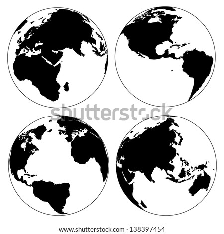World map globe detail vector illustration stock vector 138397454 world map and globe detail vector illustration eps 10 gumiabroncs Gallery