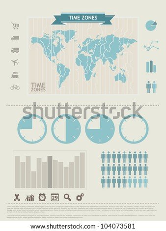 World Map and Information Graphics elements