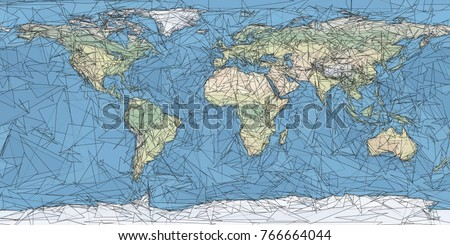 World map artistic low poly triangulated stock vector 766664044 world map artistic low poly triangulated vector gumiabroncs Choice Image