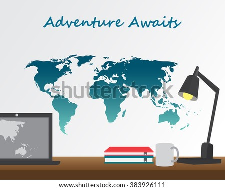 world map background and elements. can be used for workflow layout, diagram, step up options, statistic elements, web design. Vector illustration. - stock vector