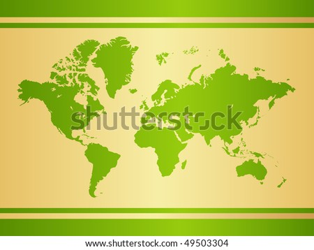 World map background. Vector illustration, isolated on a white